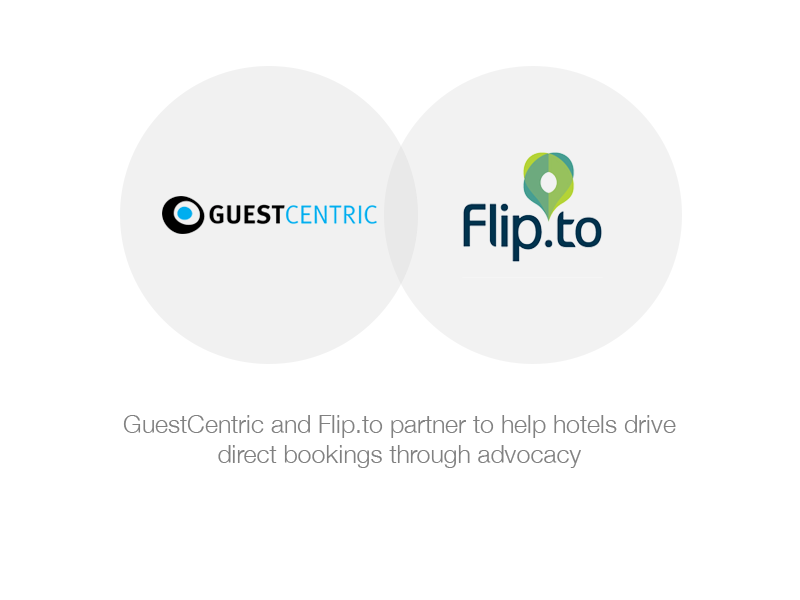 GuestCentric announced today a partnership with Flip.to on an integrated hotel digital marketing and brand advocacy platform in the cloud.