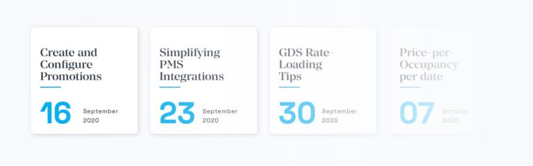 Calendar - Guestcentric Webinars for Hotels 2020