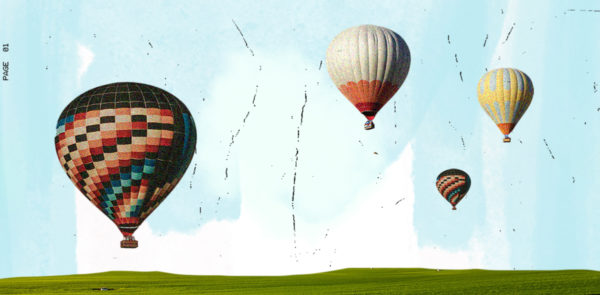 Domestic travel is king for hotels cover image. Featuring hot air balloons against a blue sky.