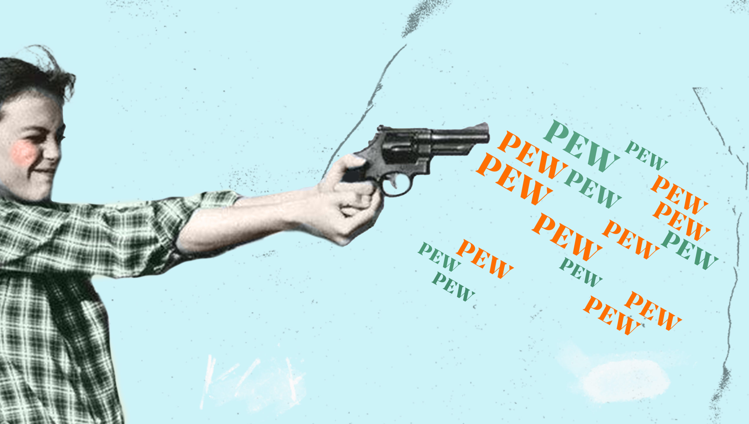 Will Hotel Direct Bookings kill OTAs for Good? Blog cover image of girl shooting word gun