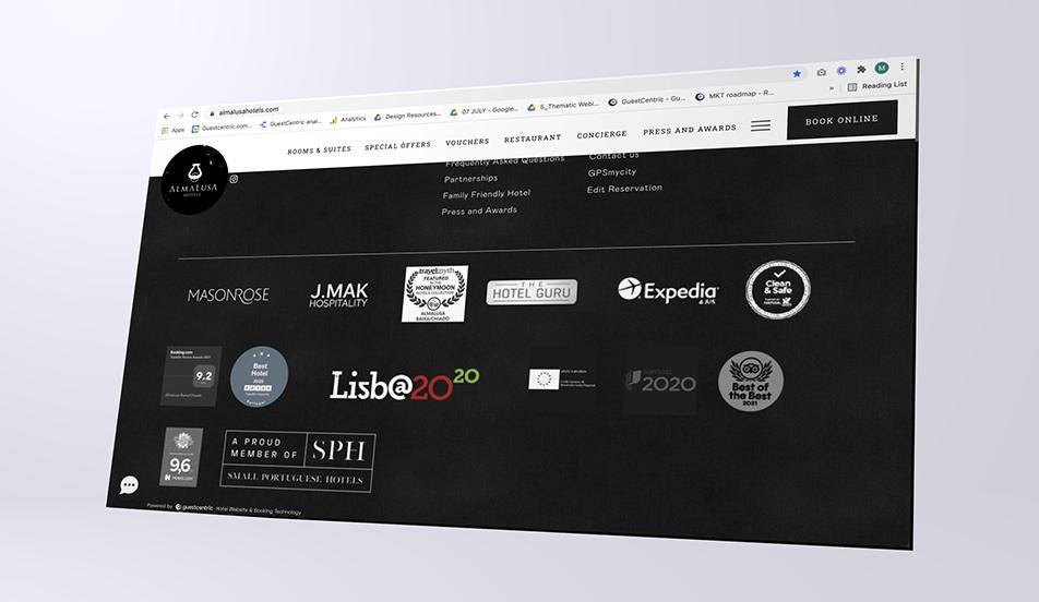 Website Footer - Guestcentric