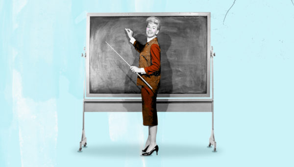 Recession lessons for hotels - image of doris day in front of black chalkboard